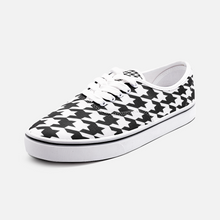 Load image into Gallery viewer, Black & White Houndstooth Fashion Sneakers