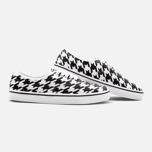 Black & White Houndstooth Fashion Sneakers