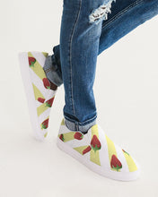 Load image into Gallery viewer, Men's Strawberries and Cream Slip-On Canvas Shoe