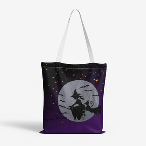 Midnight Witch Canvas Tote Bag