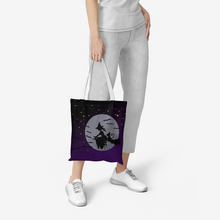 Load image into Gallery viewer, Midnight Witch Canvas Tote Bag
