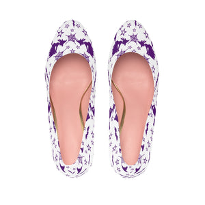 Women's Purple Witch Halloween Platform High Heel Shoes
