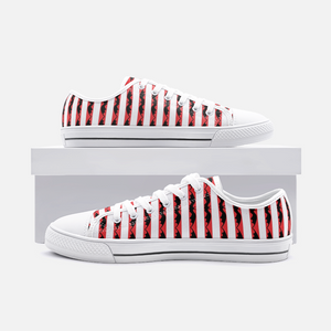 Red Striped Bat Casual Sneakers