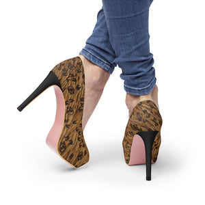 Women's SkullPard Platform High Heel Shoes