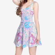 Load image into Gallery viewer, PeaceLove Flared Skater Dress