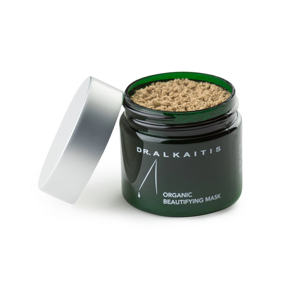 Dr. Alkaitis' Organic Beautifying Mask, aims to effectively treats damaged, sun burned, aging and acne prone skin.  Supports collagen production in all skin complexions.