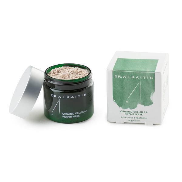 Dr. Alkaitis Organic Cellular Repair Mask will help repair damaged or aging skin.
