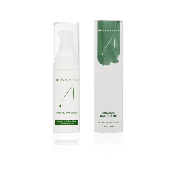 Dr. Alkaitis Organic Day Cream is moisturizing, repairing and healing. Protects the skin against environmental damage.