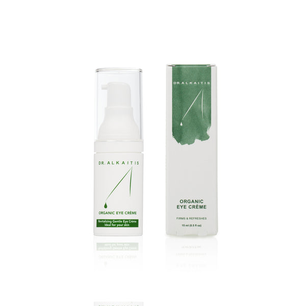 Dr. Alkaitis award winning Organic Eye Cream refreshes tired eyes and diminishes the appearance of fine lines.