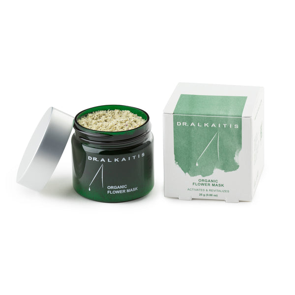 Dr. Alkaitis Organic Flower Mask gently exfoliates and will leave you with healthy looking skin.