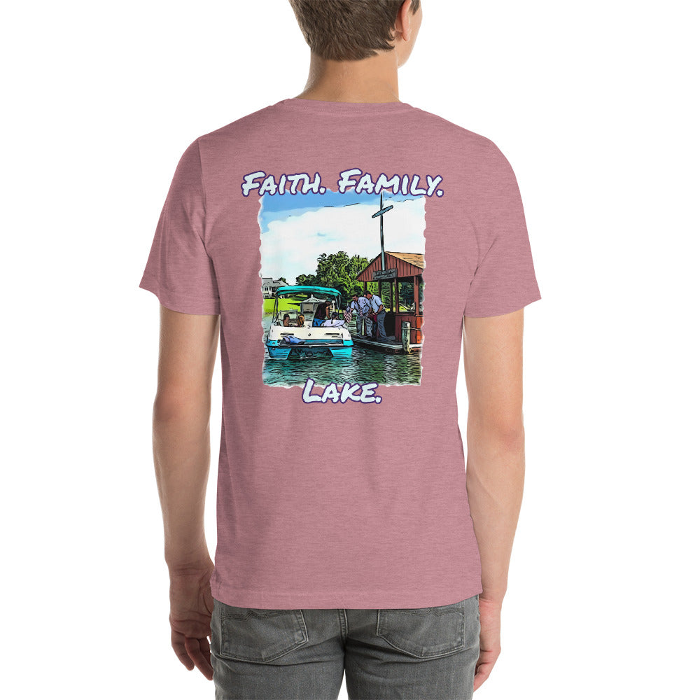 Men's Faith. Family. Lake. Tee