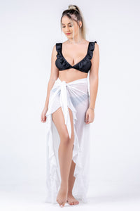 Mesh White Skirt Pareo