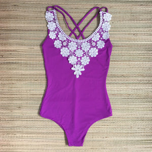 Floripa Purple One Piece Lace Bodysuit