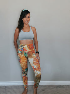 Quebec Printed High Waisted Legging