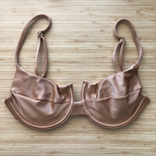 Load image into Gallery viewer, Beige Panneled Bra Bikini Top
