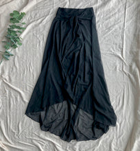 Load image into Gallery viewer, Mesh Black Long Skirt Pareo