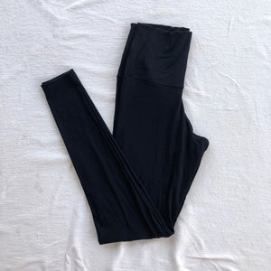 Ribbed Black Legging Loungewear