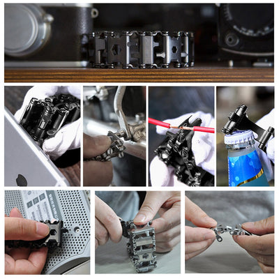 29 IN 1 Stainless Steel Multi Tool Bracelets - rockabilly.store