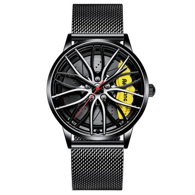 Sports Car Wheel Rim Hub Watches Men - rockabilly.store