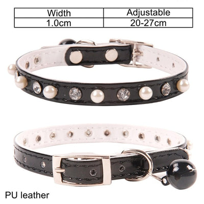 Cat Collar With Bell Name Pet Collar For Cats - rockabilly.store