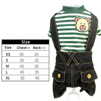Fleece Winter Pet Dog Jumpsuit For Small Dogs - rockabilly.store