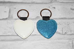 Glitter Heart Keychains for sublimation blank-Sublimation Blank-Elliott Creations