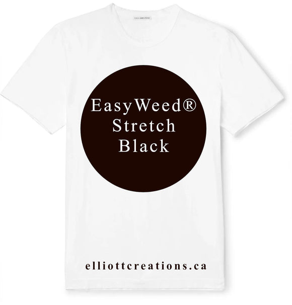 Black - Siser EasyWeed® Stretch HTV-HTV-Elliott Creations