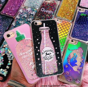 100% Unicorn Glitter Phone coque