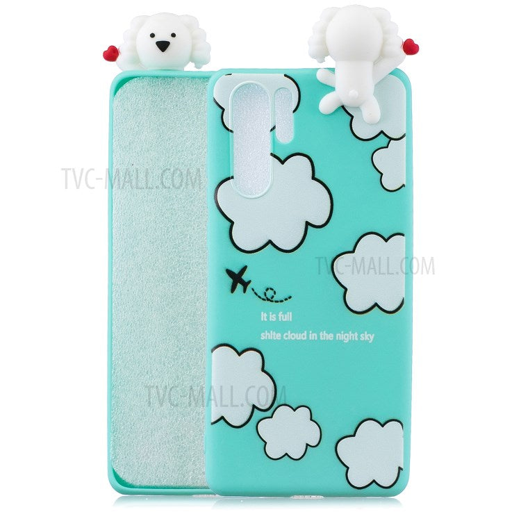 3D Cute Doll Pattern Printing TPU coque