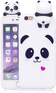 3D Iphone 6 coque Cute Panda Unicorn