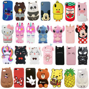 3D Stitch Winnie Unicorn Cat Phone coque