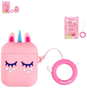 3D Unicorn AirPods coque Cute Earphone