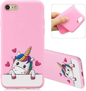 3D Unicorn Silicone TPU coques iPhone 7