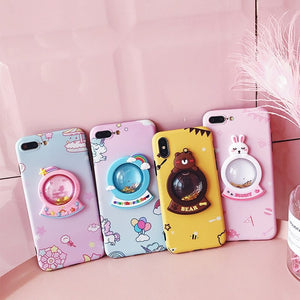 3D liquid coque For iphone X /8 / 7 plus