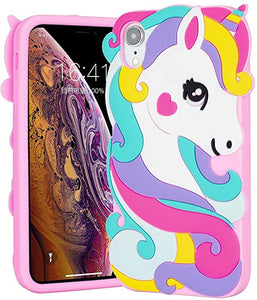3d Unicorn Silicone coque Phone For