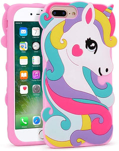 3d iphone 7 coque unicorn