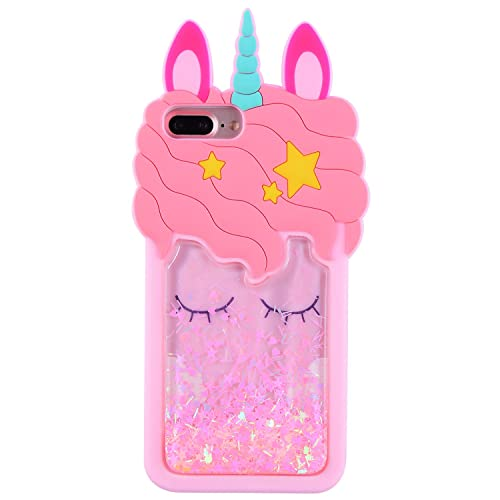 A moving glitter unicorn iPhone 6 coque