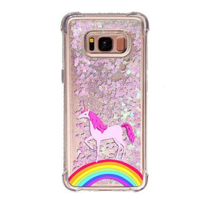 Adorbs liquid glitter sand unicorn coque