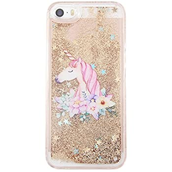 Bling Glitter Unicorn Hard Phone coque