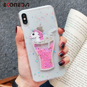 Buy EKONEDA Cute Glitter Unicorn coque