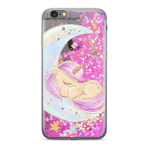 coque OVERLAY LIQUID GLITTER Unicorn 003