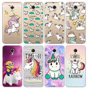 Cartoon Cute Unicorn coque For Meizu M6s