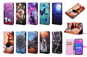 Cartoon Wallet Leather coque For Samsung