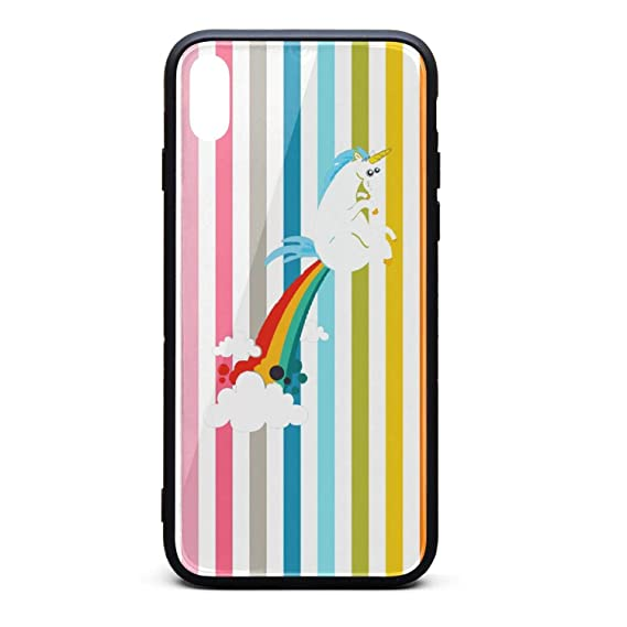 coque Cartoon Unicorn Farting Rainbow