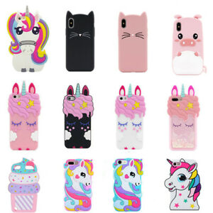 coque Soft Silicon Unicorn Phone coque