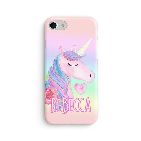 Custom name unicorn iPhone X coque