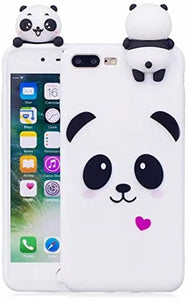 Cute 3D Cartoon Panda Unicorn coque For