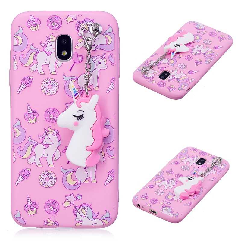 Cute 3D toy unicorn phone coques For