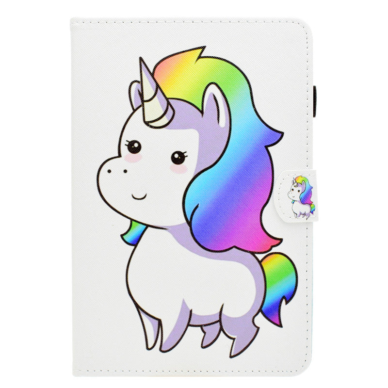 Cute Cartoon Unicorn Leather Funda coque