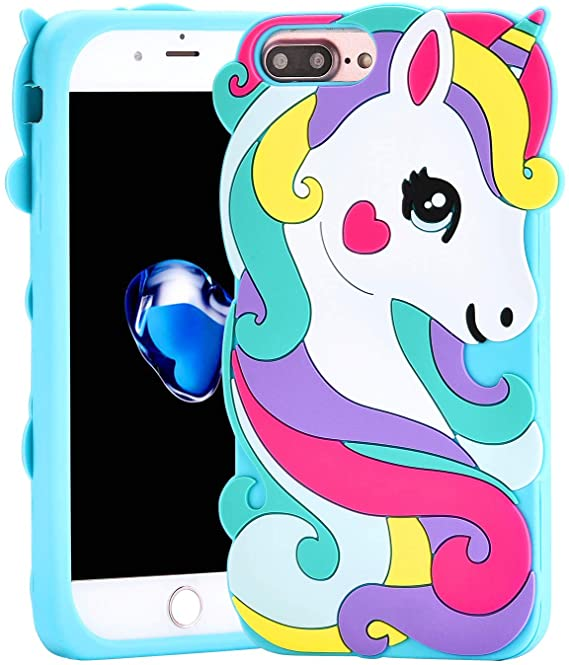 Cute Rainbow Unicorn coques For IPhone 7